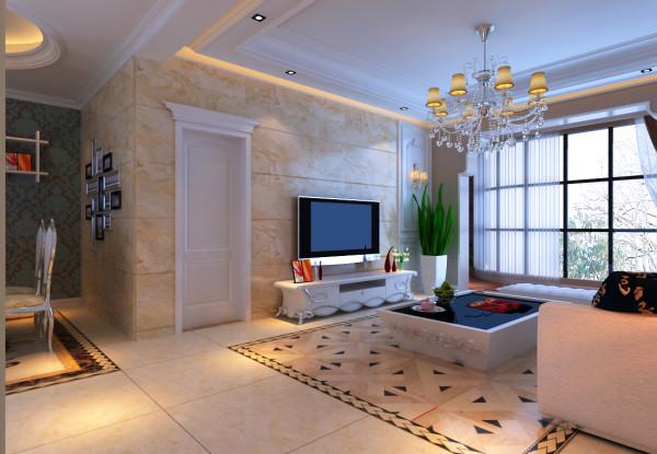 本案例位于郑州康桥金域上郡四居室190平方欧式风格装修效果图【客厅装修效果图】