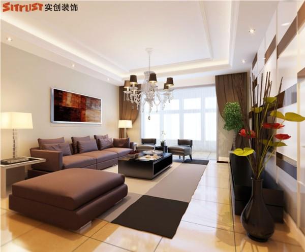 弘达明尚-140平米现代简约风格-客厅效果图