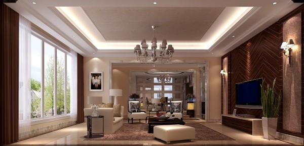 电视墙的暗色设置,对着明亮的窗户,让客厅的光线变得更协调!