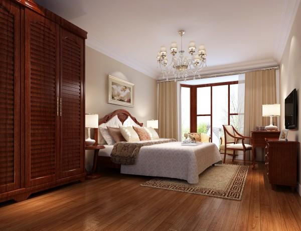 飘窗的设置让我是变得更加明亮,硕大的衣柜设置也让卧室的功能更加实用!