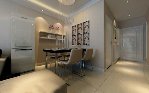 山顶御新城两居室简约风格装修设计效果图【餐厅设计装修效果图】