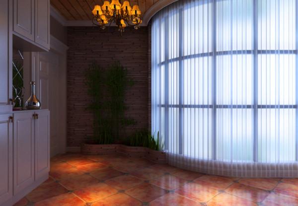 本案例位于郑州康桥金域上郡四居室190平方欧式风格装修效果图【阳台装修效果图】
