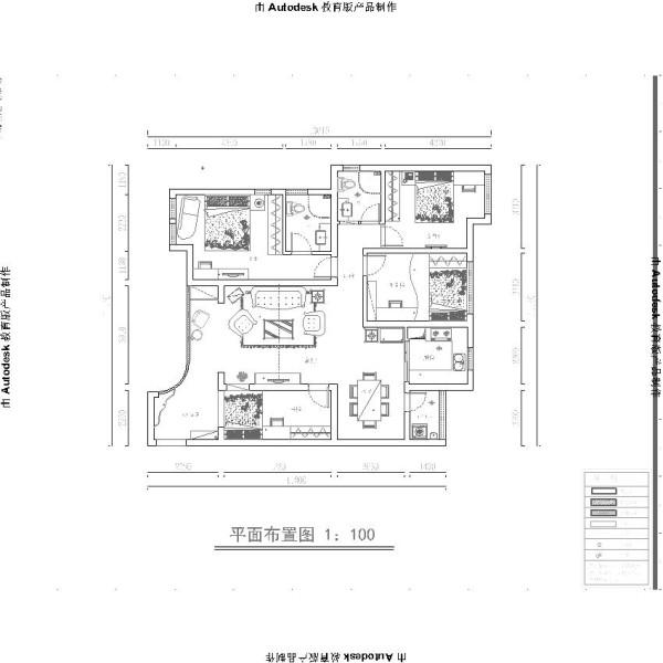 本案例位于郑州康桥金域上郡四居室190平方欧式风格装修效果图【户型设计图】