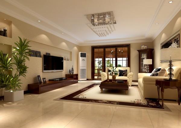 电视墙的设置让客厅变得更宽敞,沙发和茶几的配置又让客厅显得更休闲
