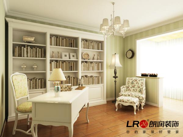 书房更显淡雅清香,简简单单,心灵休憩和充实的最好的地方。