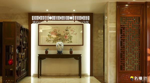 名雕装饰设计—天骄峰景私家豪宅古色古香壁画