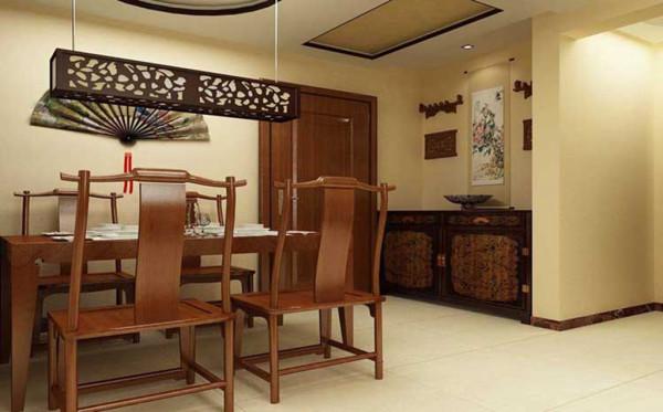 众美意风-130平米中式风格装修-餐厅效果图
