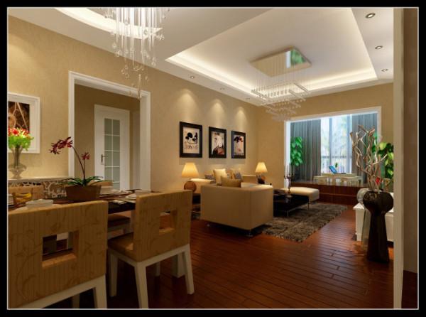 西部风景傲城-89平米现代装修设计-餐厅效果图