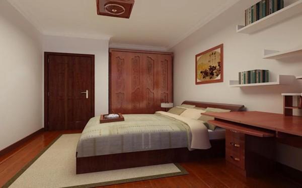 众美意风-130平米中式风格装修-卧室效果图