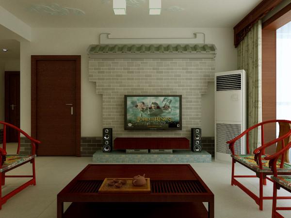 电视墙仿古造型