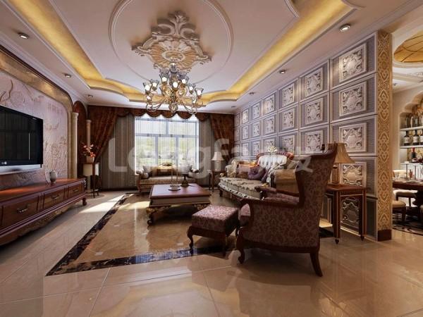 蔚蓝观园180平米欧式风格客厅