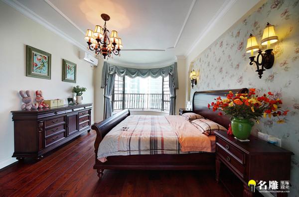 名雕装饰设计— 合生帝景苑—美式田园--卧室