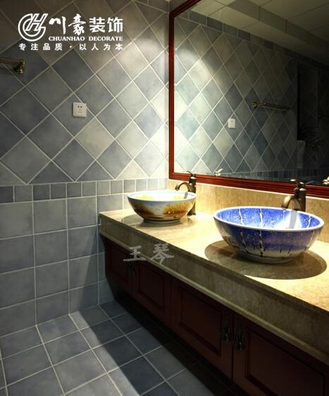 华地紫园124㎡简约装修设计,卫生间