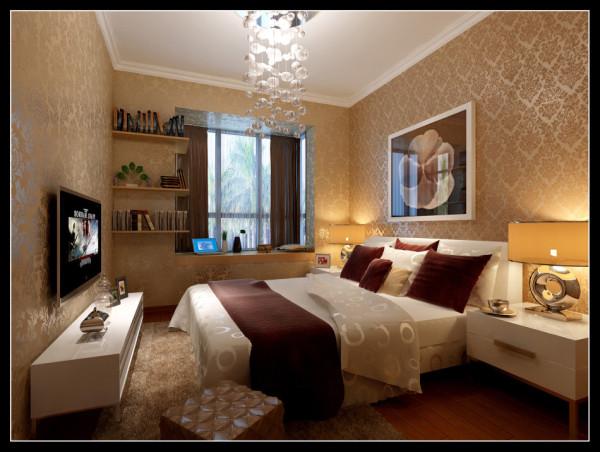 西部风景傲城-89平米现代装修设计-卧室效果图