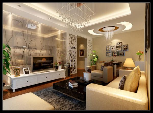西部风景傲城-89平米现代装修设计-客厅效果图