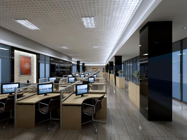 深圳西丽办公室楼-员工办公区方案设计