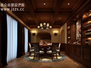 500平古朴美式复式风格设计