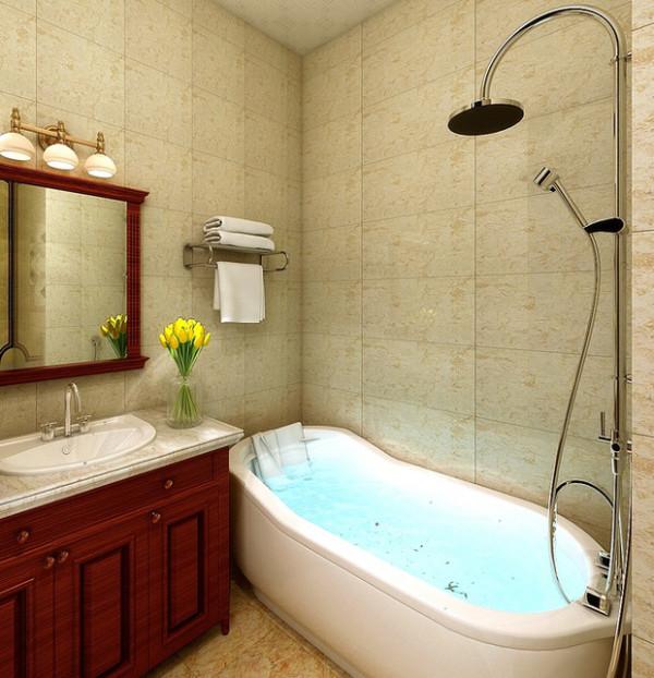 带有浴缸的卫生间是人人都向往的!