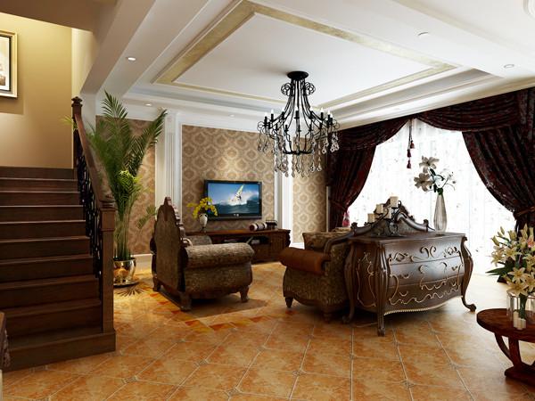 八达岭孔雀城---300平户型客厅效果图