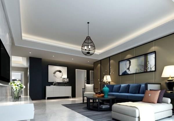 清新亮丽的色彩,给客厅注入活力