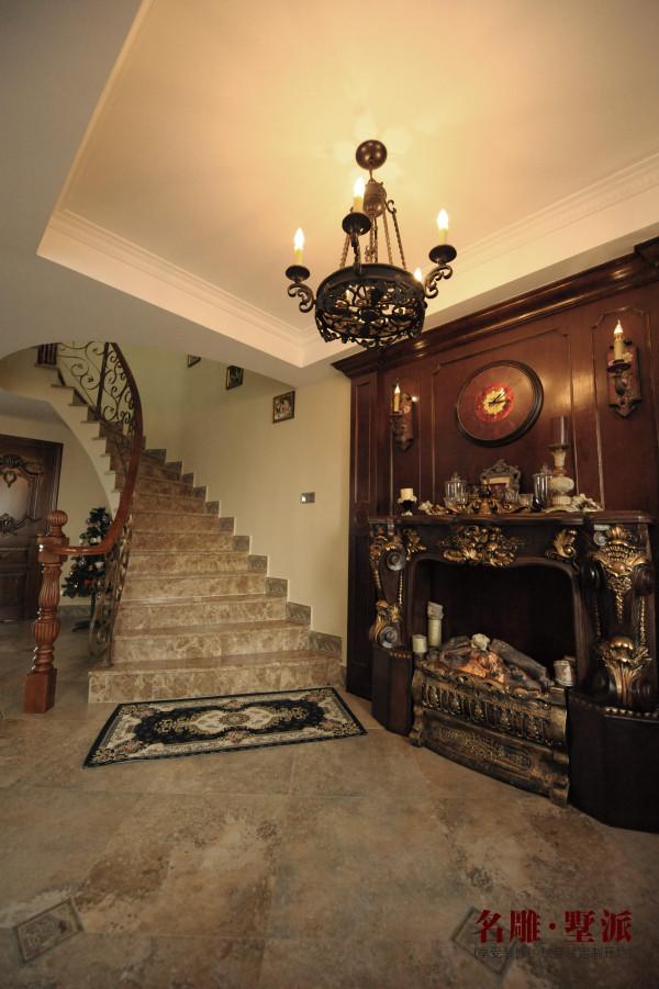 名雕墅派整装定制—星河时代复式——美式楼梯