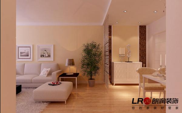 客厅一角,温暖的色调,清新舒适。