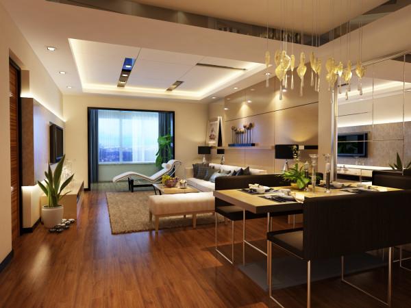 客厅内之所以不用布艺窗帘的原因是客厅长度太短,挂上窗帘后会显得客厅狭小不大方,而挂在阳台视觉效果会有伸展性