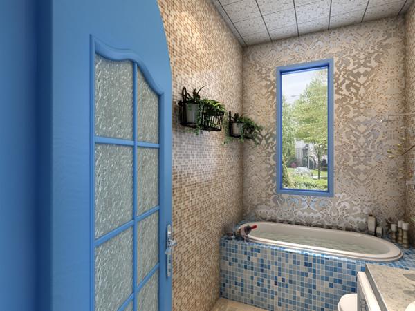这个卫生间,在里面泡澡就犹如享受着大海的美妙!