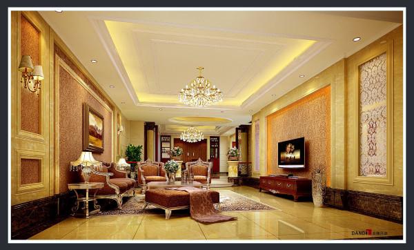 名雕丹迪别墅设计院——欧式风格——客厅