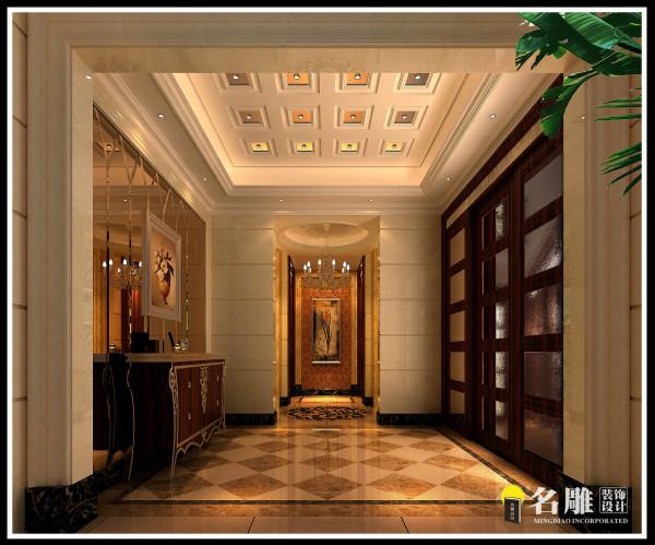 名雕装饰设计—欧式过厅:大气、金壁辉煌