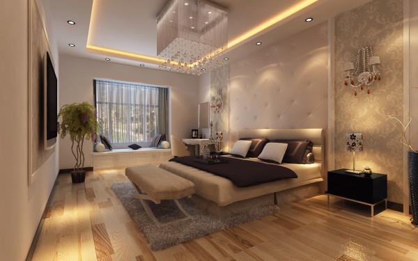 150平米现代简约三居室卧室装修效果图
