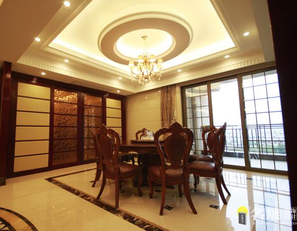 名雕装饰设计—天湖郦都四居室—欧式餐厅