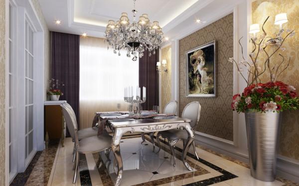 骏景家园-140平米欧式风格装修-餐厅效果图