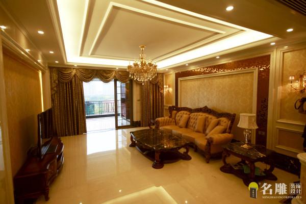名雕装饰设计—天湖郦都四居室—欧式客厅