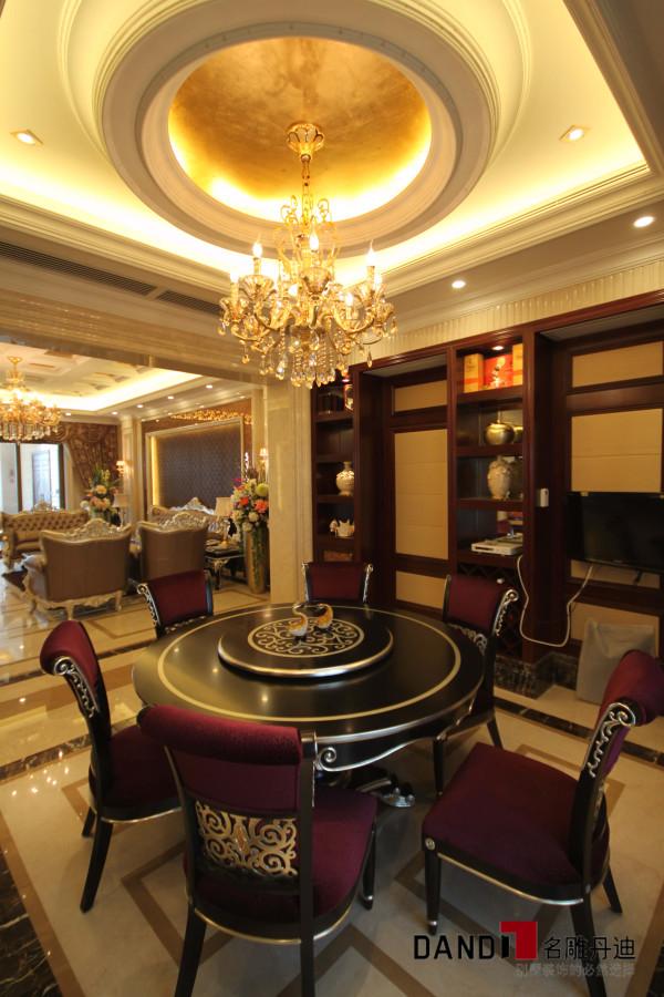 名雕丹迪设计—天湖郦都别墅—新古典—餐厅