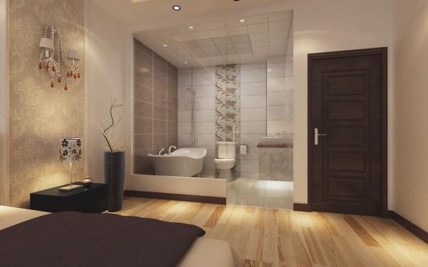150平米现代简约三居室卫生间装修效果图