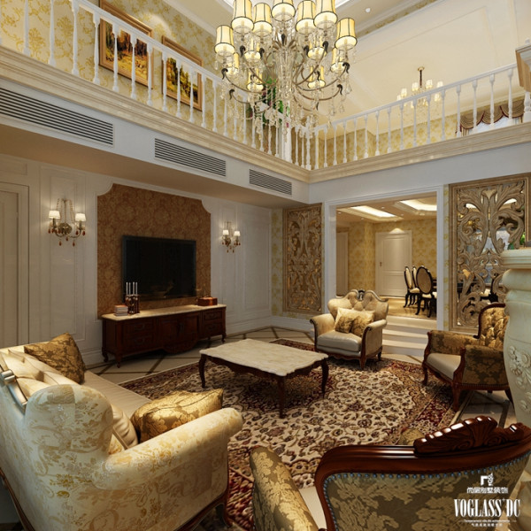 欧式风格中最大的特点就是讲古典主义风格中奢华繁复的装饰凝练得更为含蓄精雅,为硬而直的线条配上温婉雅致的软性装饰
