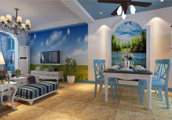龙湖北城天街132.00㎡地中海风格餐厅实景图