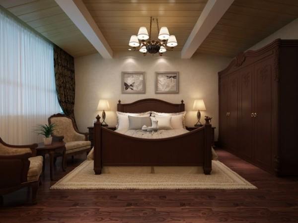 欧式170最新的美式装修风格案例,卧室