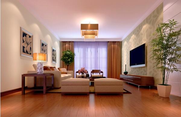 郑州实创装饰-阳光城88平-客厅