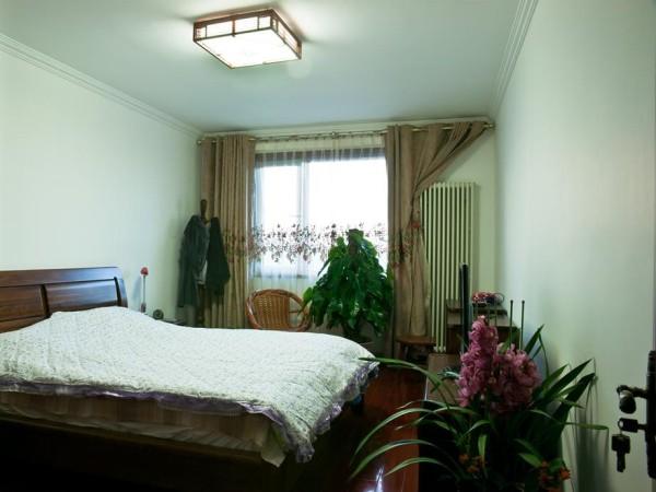 华润二十四城89㎡中式风格卧室实景图