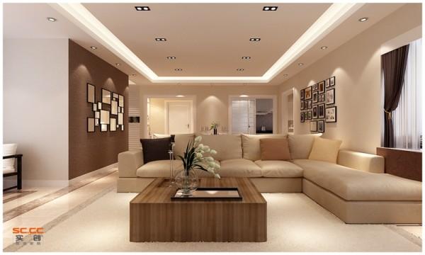 设计亮点:现代简约的直线条,质地光润的石材地面,皮质的组合沙发,满天星式的灯光,处处彰显简洁大气的设计理念。