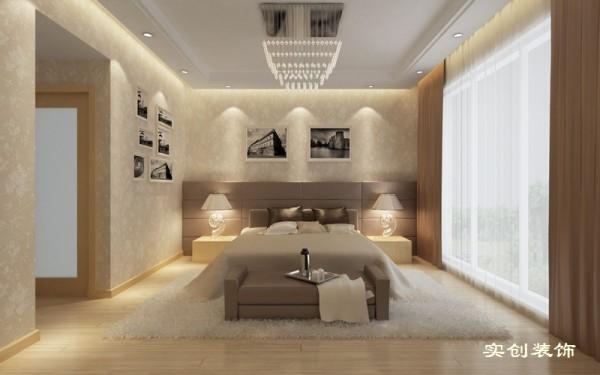 设计理念:温馨、浪漫 亮点:辅助的光源是营造温馨浪漫气息的关键,搭配温馨的墙纸和赶紧的窗帘,这就是一个圣地。