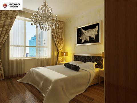 主卧:暖黄色的灯光照亮了整个卧室,高雅的窗帘、华丽的吊灯、一束美丽的话在床头展开。让人怎么才能从这种温馨浪漫的环境中走的出来呢!