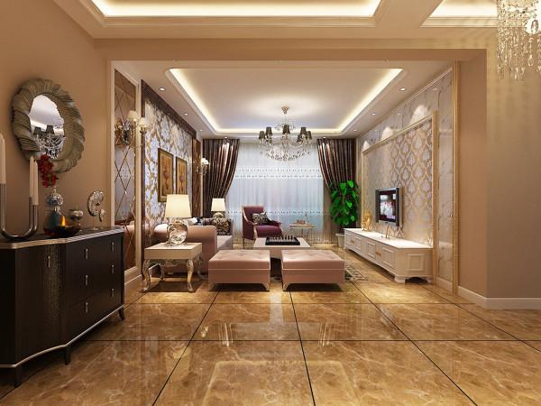 客厅30平欧式客厅设计理念:让整个空间不失欧式的尊贵与典雅,同时也要突显欧式的自然、高贵的气质。 亮点:电视墙、沙发背景墙的线条部位装饰为线条或金边,在造型设计上既要突出凹凸感,又要体现出欧式的华丽。