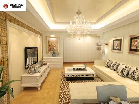 欧式风格大多采用白色、淡色为主,可以采用白色或者色调比较跳跃的靠垫配白木家具,