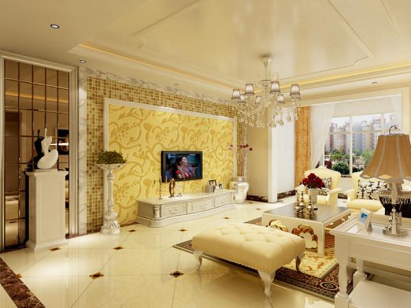 红珊湾-欧式装修设计-客厅效果图