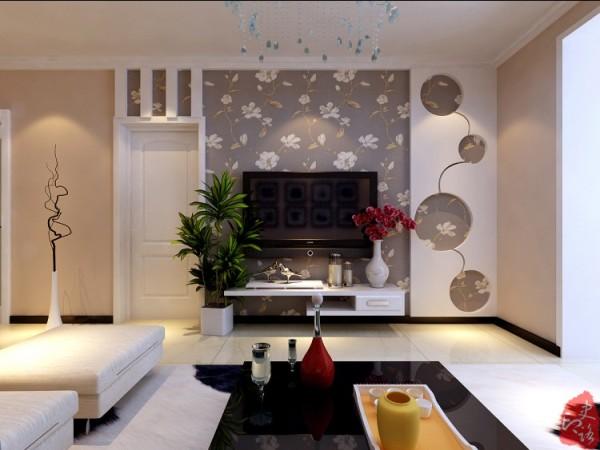 考虑电视墙门的处理,结合门做造型,增加电视墙的长度,与沙发背景墙对称,视觉舒服。