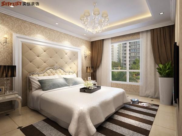 紫御府-112平米E户型装修设计-卧室效果图