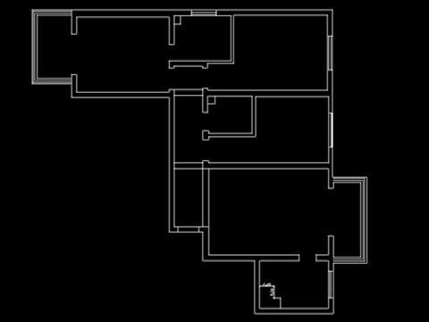 原始的户型框架图。